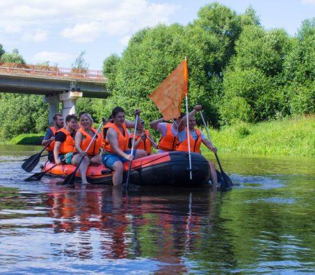Сплав на рафтах по реке Шерна.